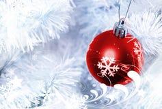 Rote Weihnachtsdekoration Stockfoto