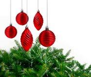 Rote Weihnachtsdekoration Lizenzfreie Stockbilder