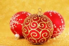 Rote Weihnachtsdekoration stockfotografie