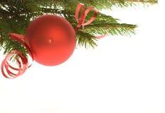 Rote Weihnachtsdekoration Lizenzfreie Stockfotografie