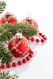Rote Weihnachtsdekorationen Lizenzfreie Stockfotografie