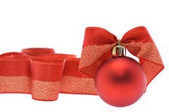 Rote Weihnachtsdekorationen Stockfotos