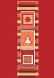 Rote Weihnachtsfahne Stockfotografie
