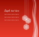 Rote Weihnachtsfahne Lizenzfreies Stockbild