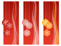 Rote Weihnachtsfahnen Stockfotos