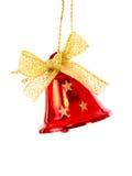 Rote Weihnachtsglocke erhellt lizenzfreies stockbild
