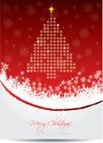 Rote Weihnachtsgrußkarte Lizenzfreie Stockfotografie
