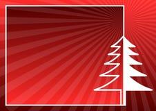 Rote Weihnachtskarte Stockfotografie