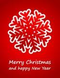 Rote Weihnachtskarte Lizenzfreie Stockfotografie