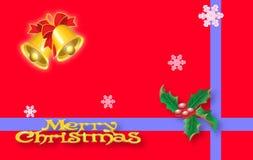 Rote Weihnachtskarte Stockfotos