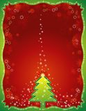 Rote Weihnachtskarte, Vektor Lizenzfreie Stockbilder