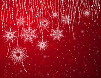 Rote Weihnachtskarte, Vektor Stockfotografie
