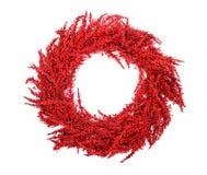 Rote Weihnachtskrone Lizenzfreie Stockfotos