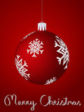 Roter Weihnachtsball Lizenzfreie Stockfotografie