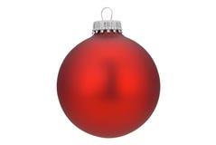 Rote Weihnachtskugel Lizenzfreie Stockfotografie