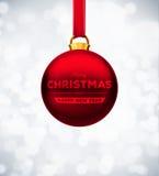 Rote Weihnachtskugel Lizenzfreie Stockbilder