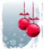 Rote Weihnachtskugeln Stockfotos