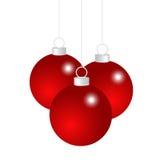 Rote Weihnachtskugeln stock abbildung