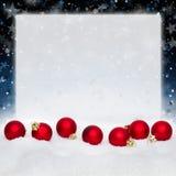 Rote Weihnachtskugeln Lizenzfreie Stockfotos