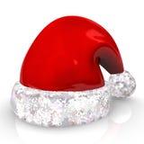 Rote Weihnachtsmann-Schutzkappe Lizenzfreie Stockfotos