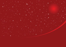 Rote Weihnachtsnacht Stockfoto