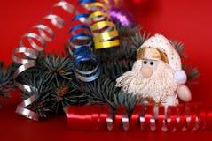 Rote Weihnachtspostkarte Lizenzfreie Stockbilder