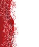 Rote Weihnachtsrandauslegung Lizenzfreies Stockbild