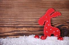 Rote Weihnachtsrotwild Stockfoto