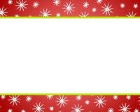 Rote Weihnachtsschnee-Ränder Stockbild