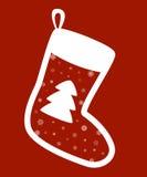 Rote Weihnachtssocken Lizenzfreie Stockbilder
