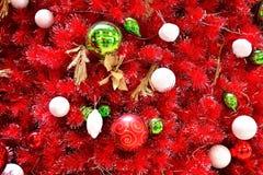 Rote Weihnachtsszene Stockfoto