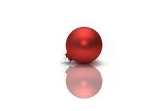 Rote Weihnachtsverzierung Lizenzfreie Stockfotos