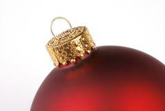 Rote Weihnachtsverzierung Lizenzfreies Stockbild