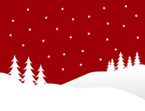 Rote Weihnachtswinter-Szene Lizenzfreies Stockbild