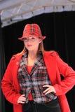 Rote Winterart und weise Stockfoto