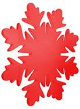 Rote Winterschneeflocke Lizenzfreies Stockbild