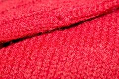 Rote Wollen Stockbild
