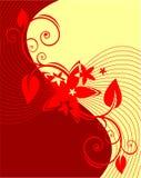 Rote Zeilen Stockbild