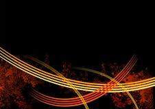 Rote Zeilen Hintergrund Lizenzfreies Stockbild