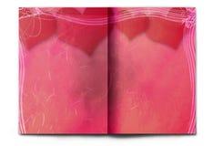 Rote Zeitschriftverbreitung des unbelegten/leeren Valentinstags Lizenzfreie Stockfotografie