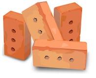 Rote Ziegelsteine Lizenzfreies Stockfoto