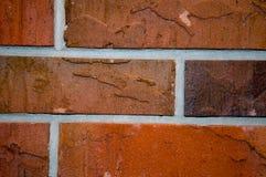 Rote Ziegelsteine des Aufbaus Stockbilder