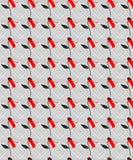 Rote Zusammenfassungs-Blumen-nahtloses Muster mit Grey Background stock abbildung