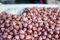Rote Zwiebel in einem Markt Lizenzfreies Stockfoto