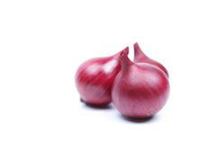 Rote Zwiebel getrennt auf weißem Hintergrund Lizenzfreie Stockfotos