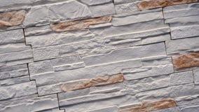 Roteer van decoratieve steen Beweging omhoog het graniet aan het huis Muur van Steen stock footage
