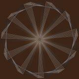 Roteer van driehoeken op een bruine achtergrond Stock Afbeeldingen