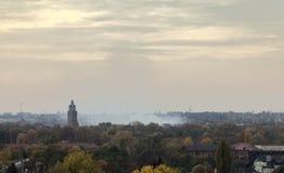 Rotehornpark概要在马格德堡,萨克森Anhalt,德国,在11月 库存图片