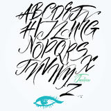 Roteiro caligráfico expressivo. Letras principais. Imagem de Stock Royalty Free