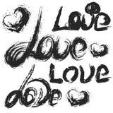 Roteiro escrito à mão do amor Amor pintado à mão Foto de Stock
